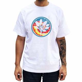 Camiseta Branca  PGS  Logo Tie Dye