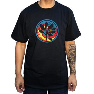 Camiseta Preta  Progress Logo Tie Dye