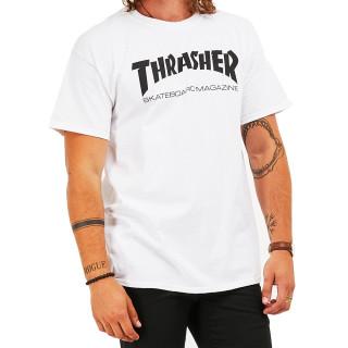 Camiseta Importada Thrasher Magazine Skate Branca Logo