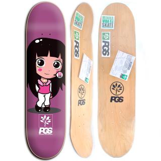 Shape de Skate Feminino Progress - PGS Menina 7.5 + Lixa Grátis