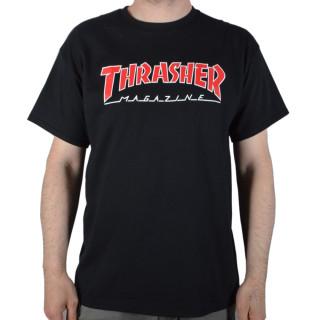 Camiseta Thrasher Skate Outlined Preta Logo