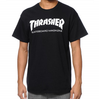 Camiseta Thrasher Skateboard Preta Magazine Logo